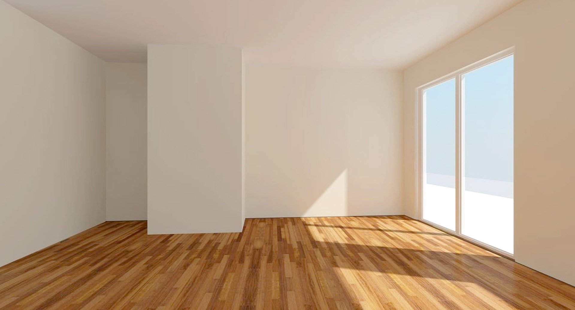 image showing an empty living room of a new home